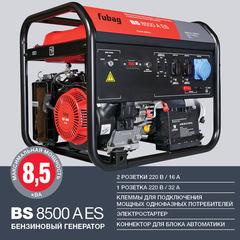 Готовый комплект аварийного питания на 8 кВт бензиновый генератор FUBAG BS8500A ES в еврокожухе SB1200 с блоком байпас (блоком ручного переключения) зимний