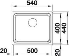 Мойка Blanco Etagon 500-U схема