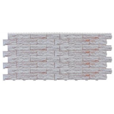 Фасадные панели (Цокольный Сайдинг) Доломит Скалистый Риф Люкс Коралл