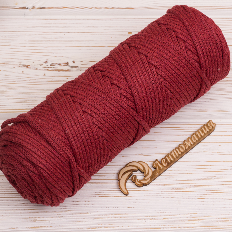 Хлопковый шнур Шнур 4мм Бордовый IMG_4292.JPG