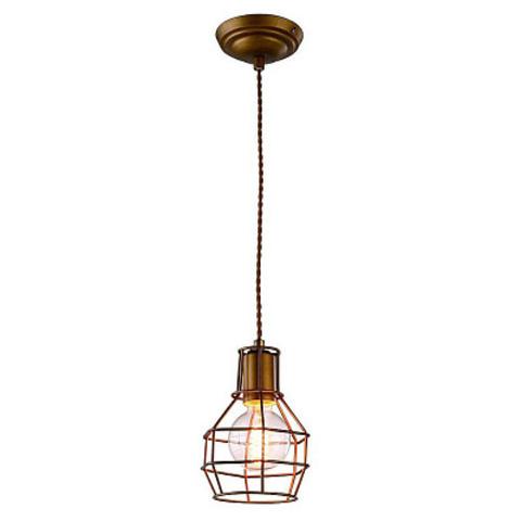 Подвесной светильник с абажуром (Бронза) A9182