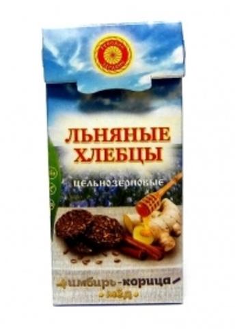 Хлебцы льняные Имбирь, Корица, Мед, 80 г.(Тиавит)
