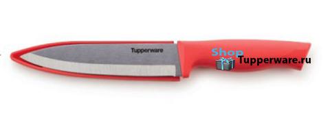 Нож Гурман большой разделочный в коралловом цвете
