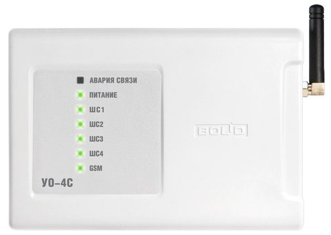 Устройство оконечное системы передачи извещений по каналам сотовой связи GSM УО-4С исп. 02