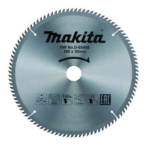 Диск по дереву пильный Makita Standard 260мм*30мм 100зуб (D-65408)