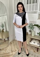 Мідея. Нарядне плаття великих розмірів. Білий