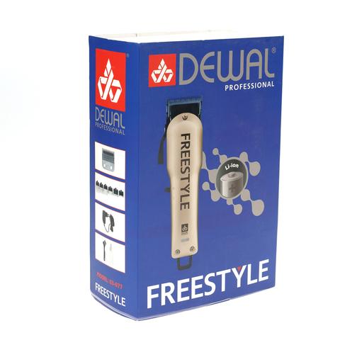 Машинка для стрижки Dewal Freestyle, аккум/сетевая, 6 насадок, золотистая