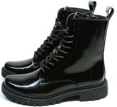 Зимние черные ботинки с мехом внутри женские Ari Andano 740 All Black.