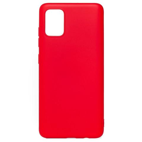 Чехол для Samsung (A515) Galaxy A51 Софт тач мягкий эффект | микрофибра красный