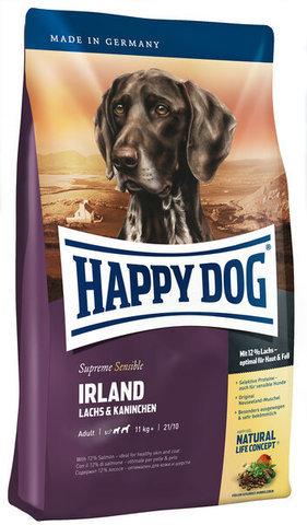 купить Happy Dog Supreme Sensible Adult Irland сухой корм для собак от 11 кг, при проблемах с кожей и шерстью 4 кг