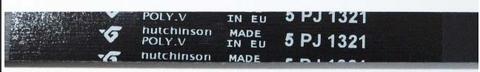 Ремень 1321 J5 для стиральной машины Indesit/Ariston (Индезит/Аристон) - 104490, WN272, 1.11.000.38, 481935810052, 481281729469