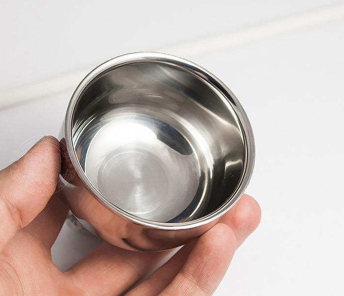 RAZ308 Стальная чаша для бритья с двойными стенками фото 05