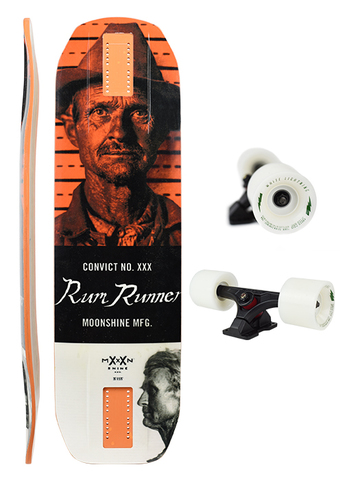 ЛОНГБОРД  MOONSHINE RUM RUNNER CONVICT WHITE/ORANGE