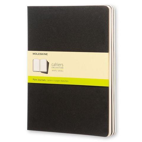 Блокнот Moleskine CAHIER JOURNAL QP323 XLarge 190х250мм обложка картон 120стр. нелинованный черный (3шт)