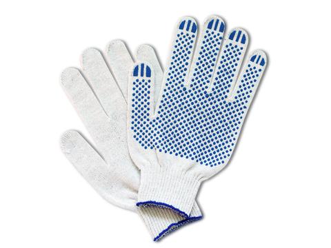 Перчатки хб с ПВХ 4/10 белые