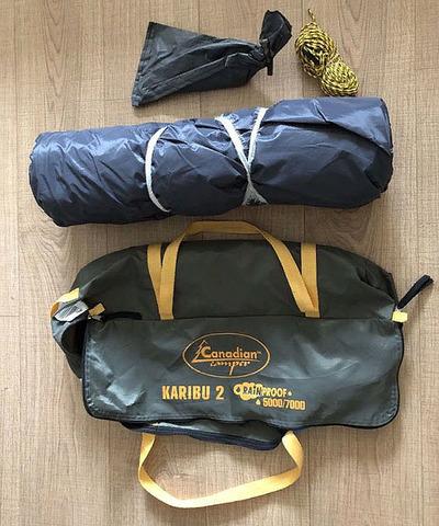 Палатка Canadian Camper KARIBU 2, цвет forest, комплектация.