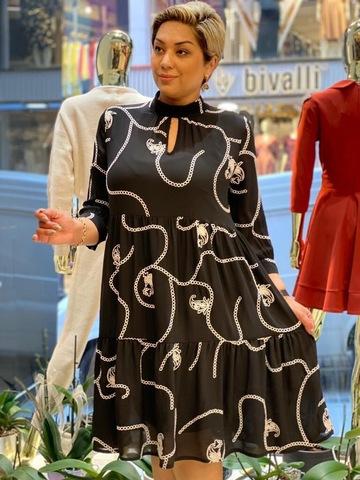 Платье PerleDonna 1924 волан шифон вышивка