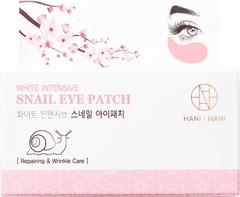 HANIxHANI Гидрогелевые патчи с муцином улитки White Intensive Snail Eye Patch  60 шт