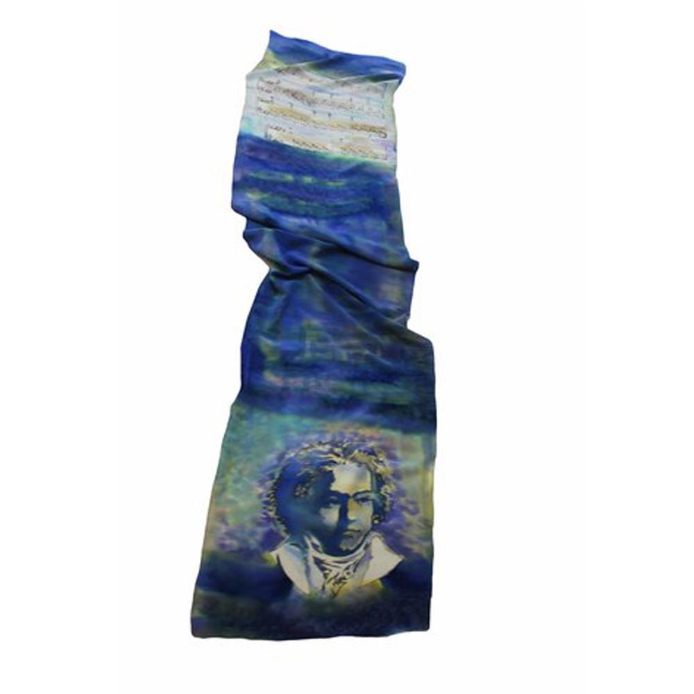 Шелковый шарф батик Моцарт-2