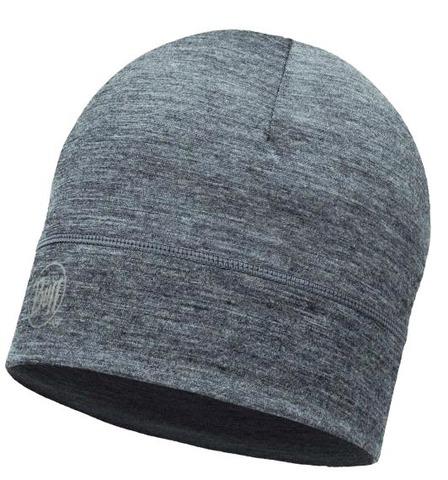 Тонкая шерстяная шапка Buff Solid Grey фото 1