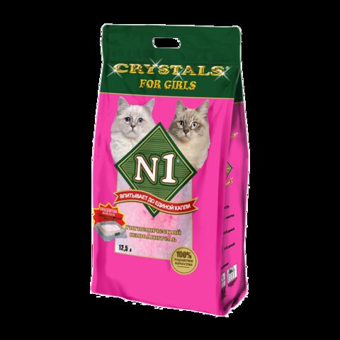 №1 Crystals For Girls Наполнитель для туалета кошек силикагелевый