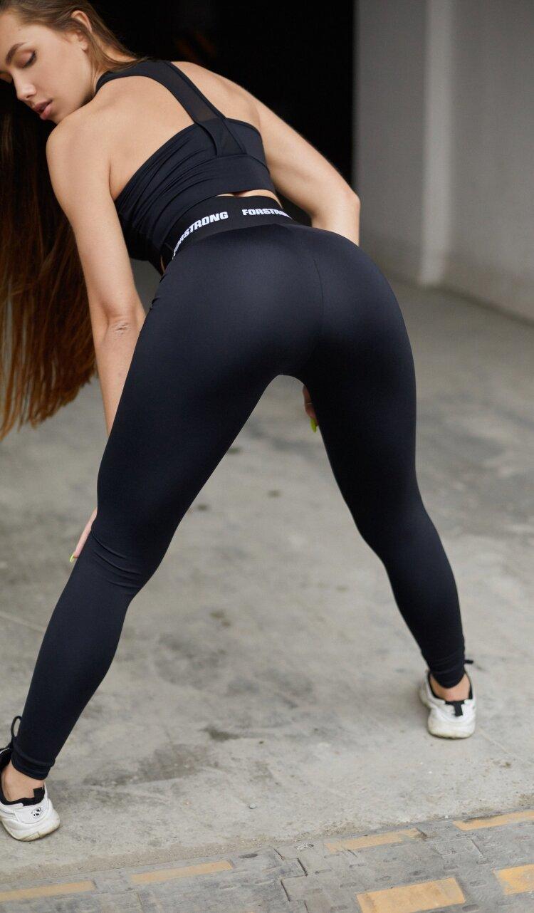 Купить черные леггинсы для фитнеса Forstrong Classic FS Black