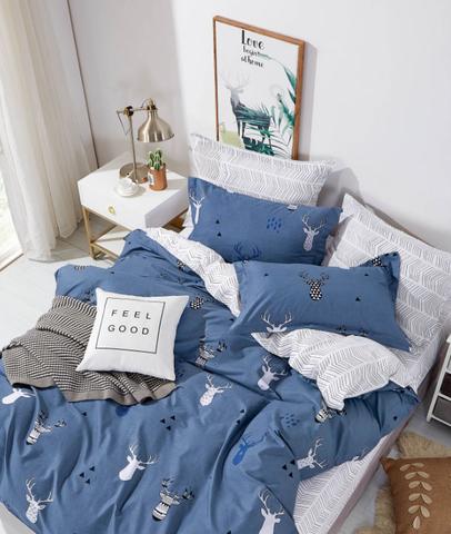 Постельное белье Аэлита синий