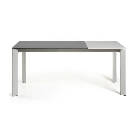 Стол Atta 120 (180) x80 серый керамический
