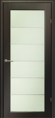 Дверь Модерн - 4 (стекло белое матовое) (венге, остекленная шпонированная), фабрика LiGa