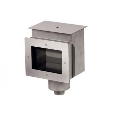 Скиммер нержавеющая сталь AISI-316 с удлиненной горловиной внутреннее подключение 2