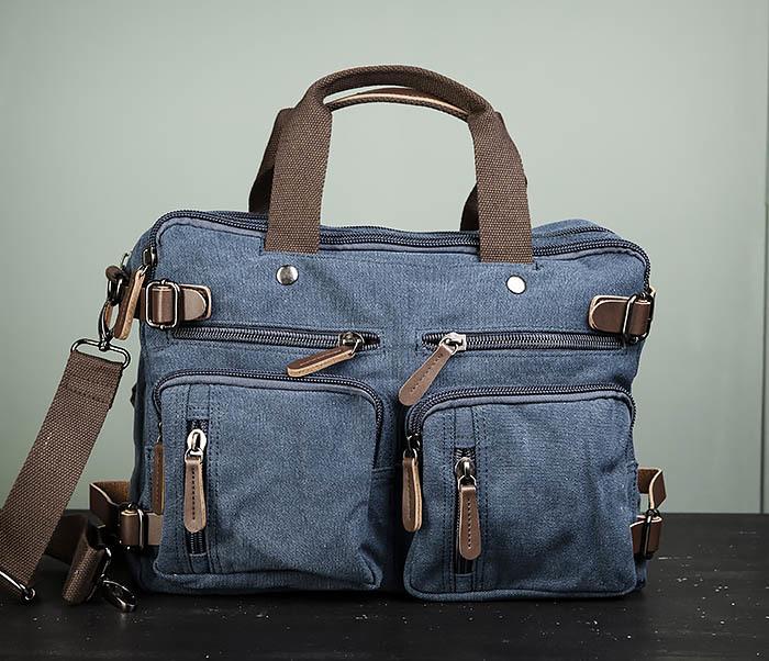 BAG475-3 Мужской городской рюкзак трансформер синего цвета фото 02