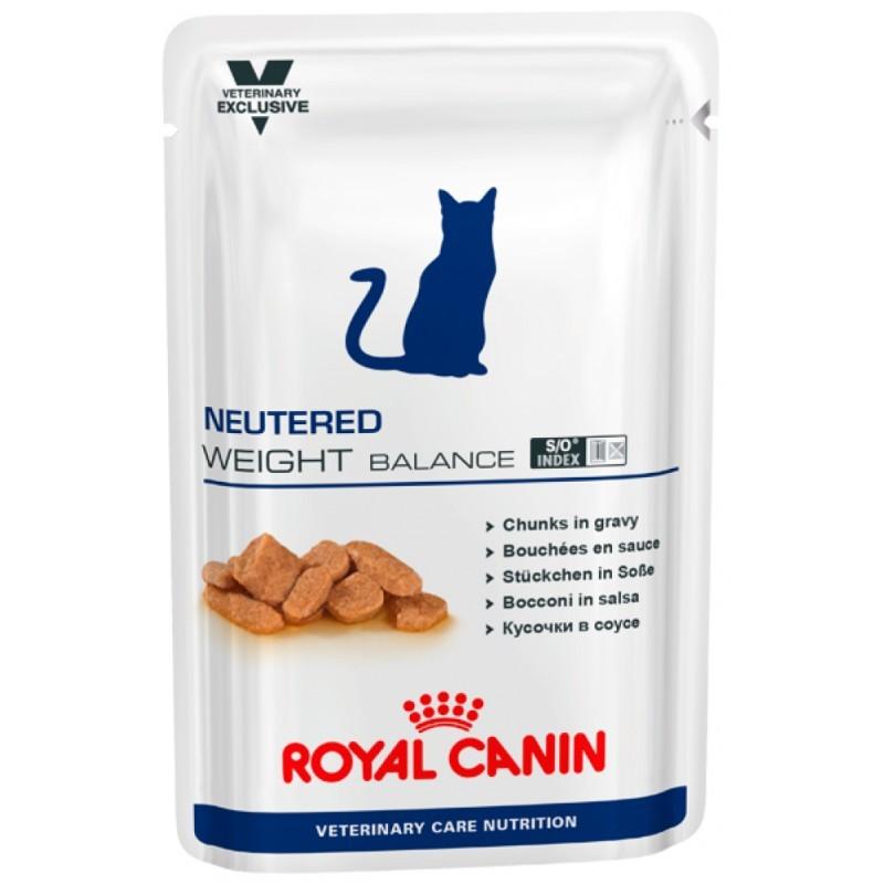 Влажные корма Пауч для кастрированных/стерилизованных котов и кошек, Royal Canin Neutered Weight Balance, с момента операции до 7 лет, склонных к избыточному весу 772001.jpg