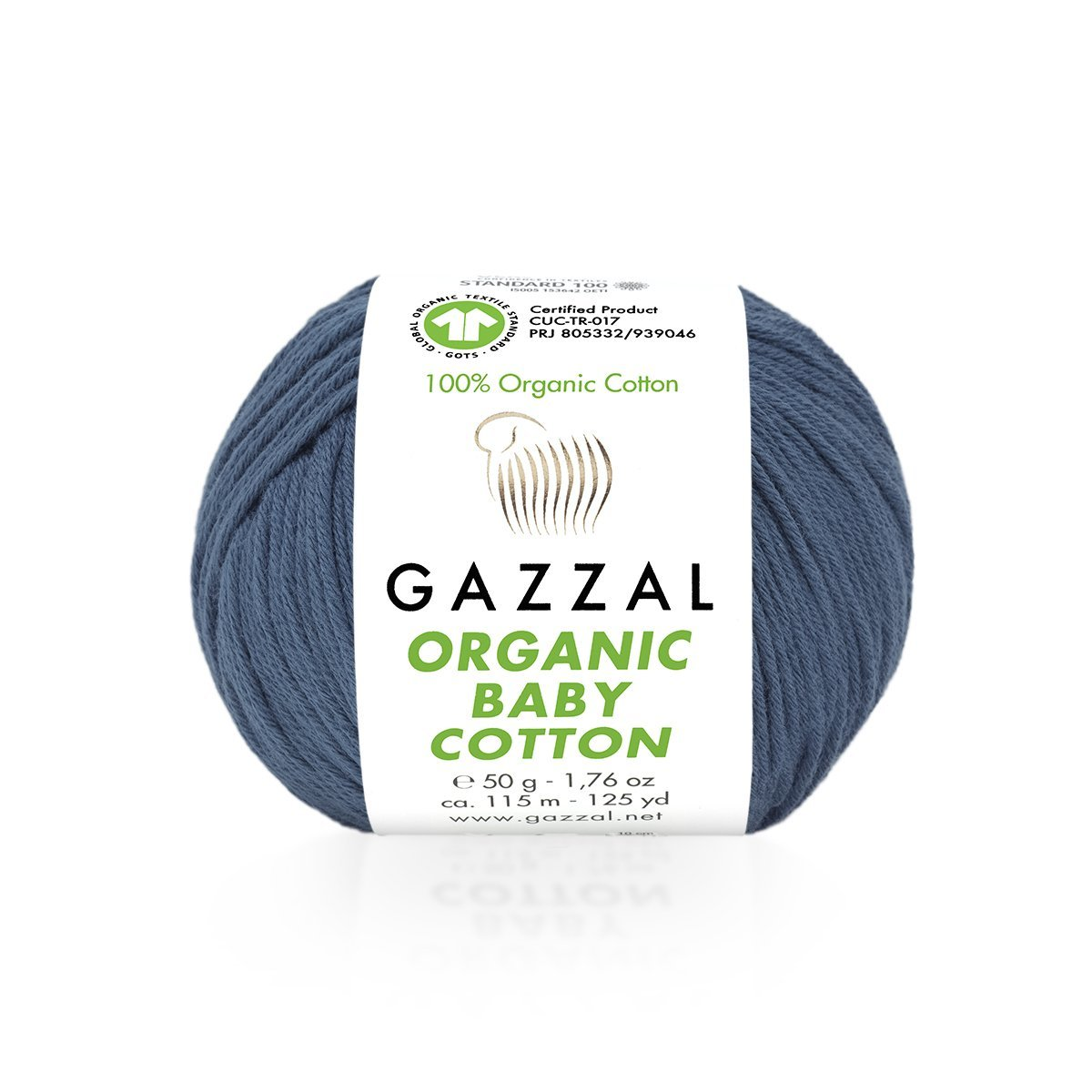 Пряжа Gazzal Organic Baby Cotton 434 джинс