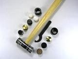 Молоток ювелирный со сменными (6 типов) рабочими поверхностями 23 см