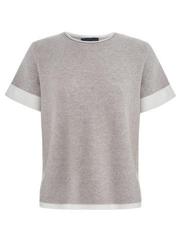 Женская футболка светло-кофейного цвета из вискозы - фото 1