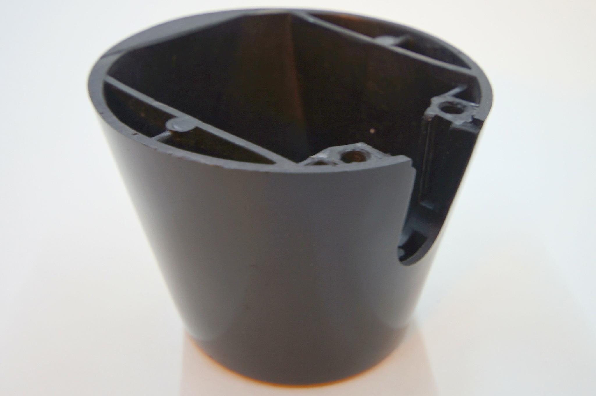 Чашка рулевой колонки Москвич 402-407 черная с вырезом