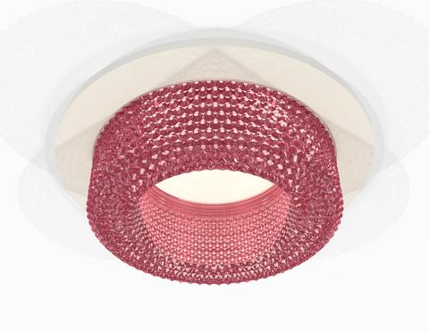 Комплект встраиваемого светильника XC7621022 SWH/PI белый песок/розовый MR16 GU5.3 (C7621, N7193)