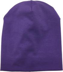 Светло-фиолетовая шапочка бини из 100% хлопка