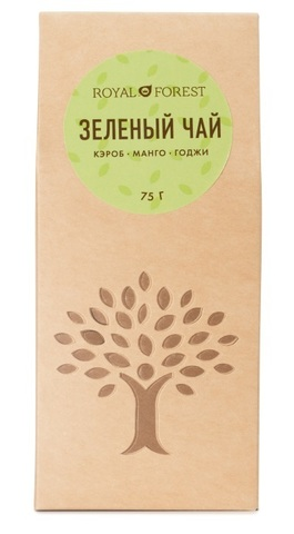 Чай зеленый, Royal Forest, Кэроб, манго, ягоды годжи, 75 г