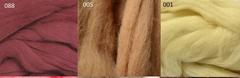 Шерсть для валяния 100% полутонкая шерсть 50 г.