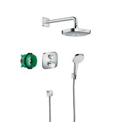 Комплект душевой системы внутреннего монтажа с термостатом Hansgrohe Croma Select E/Ecostat 27294000 фото