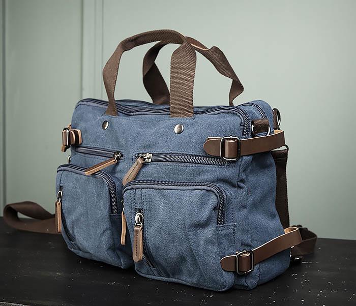 BAG475-3 Мужской городской рюкзак трансформер синего цвета фото 04