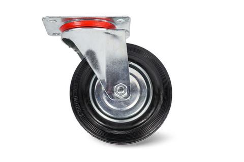 Колесо поворотное резина SC80 200мм (C-3302-SLS-200), шт