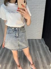 голубая джинсовая юбка nadya