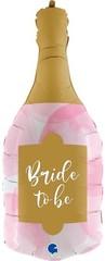 Г Фигура, Бутылка, Свадебное Шампанское, Розовый, 36