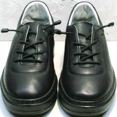 Кожаные женские кеды без шнурков Rozen M-520 All Black.