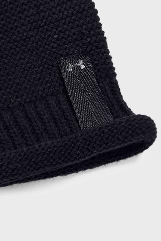 Женская черная шапка Essentials Pom Beanie Under Armour