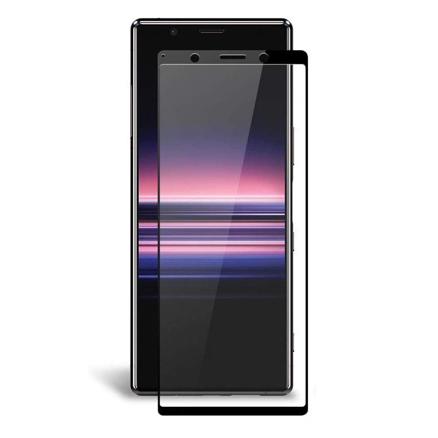Защитное 3D стекло Brosco с изогнутыми краями для смартфона Xperia 5