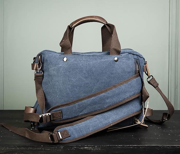 BAG475-3 Мужской городской рюкзак трансформер синего цвета фото 05