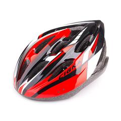 Велошлем Cigna WT-040 (чёрный/красный/белый)